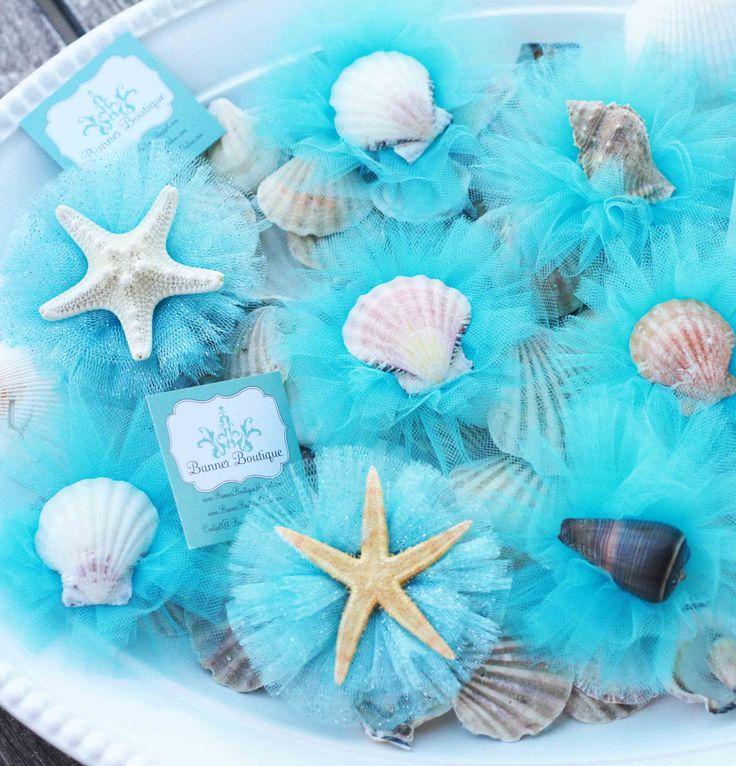 Adorable hair clips for a ocean/mermaid party