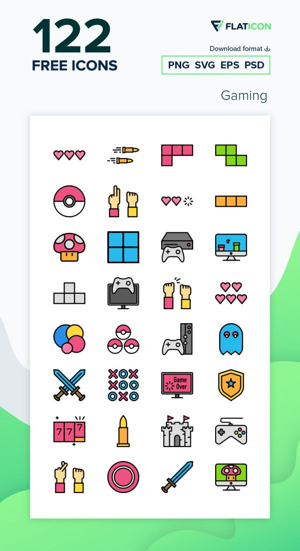 120 Free Vector Icons Of Gaming Designed By Darius Dan Vector Free Free Icon Packs Vector Icons