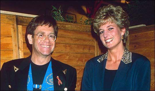 Rock 'n Royal ... joking with Princess Diana in 1993