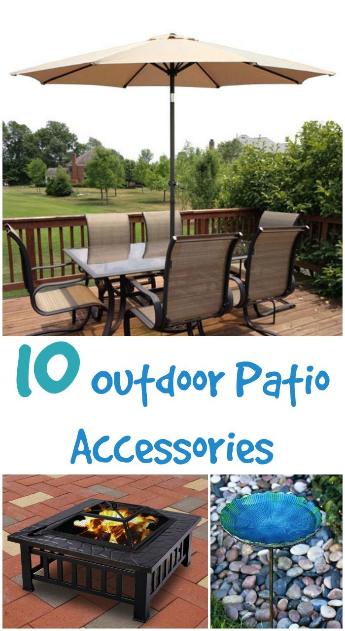 10 outdoor patio accessories that can make a blah patio more fun and also a  more - 25+ Best Ideas About Patio Accessories On Pinterest Rattan