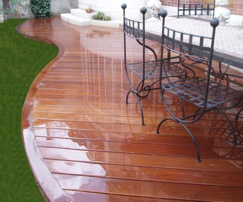 Terrasse En Ipe Avec Ceinture Arrondie Terrasse En Bois Posee A Orleans Dans Le Loiret