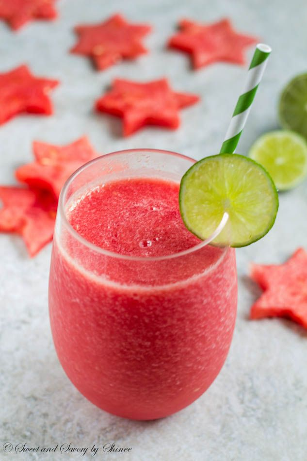 Frozen Watermelon Daiquiri - Watermelon, lime, rum and a little bit of sugar make absolutely refreshing summer drink.
