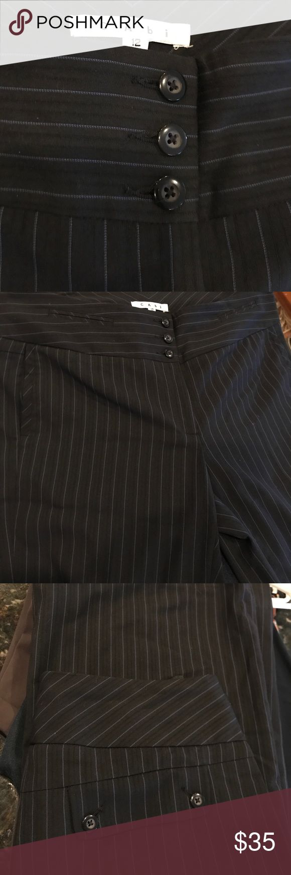 CAbi Dress Slacks Dark blue dress slacks. For the lady with long longs. I'm 5x7 they are way too long for me. Too lazy to get them hemmed. Great condition! CAbi Pants Trousers