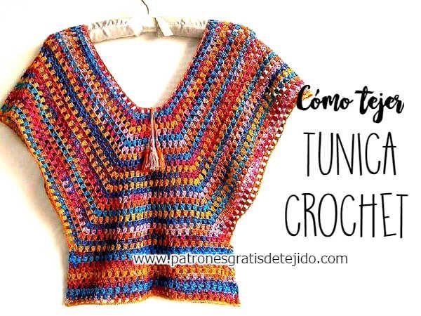 Cómo tejer túnica crochet paso a paso
