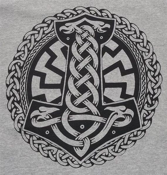 Thor's Hammer Thor Odin Rune Pagan Norse Asatru by TerraWear, $17.00