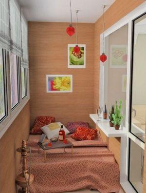 Спальная на балконе