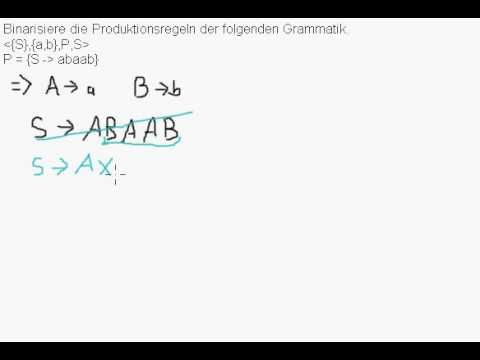 CFG - Produktionsregeln binarisieren - YouTube