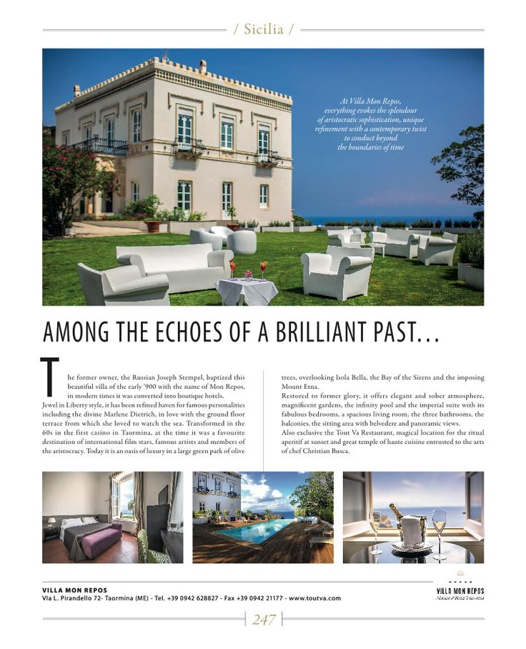 Elegant and exclusive, unique thanks to its spectacular position overlooking the Isola Bella and Etna through the beautiness of Giardini Naxos Bay