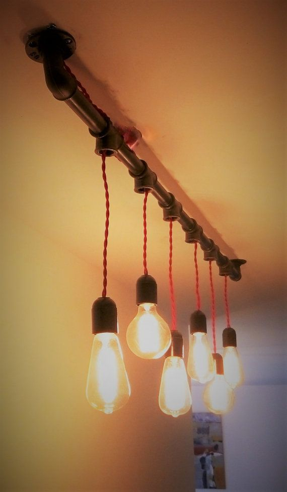 Industrielle Kronleuchter Handgefertigt In Rohr Aus Gusseisen, Die 6 Lampen  Aufnehmen Können. Größe: