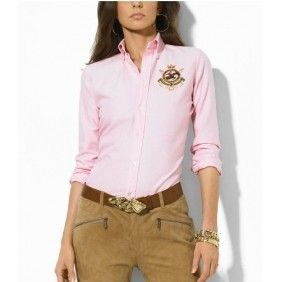 Ralph Lauren Women's Cotton Shirt in Pink