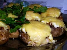 Грибы, фаршированные фаршем - Грибные блюда - Рецепты - Вкусные рецепты на каждый день