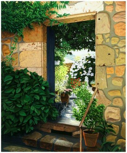 Garten Eingang. Als Poster erhältlich auf meiner Webseite: goo.gl/jvgwQl