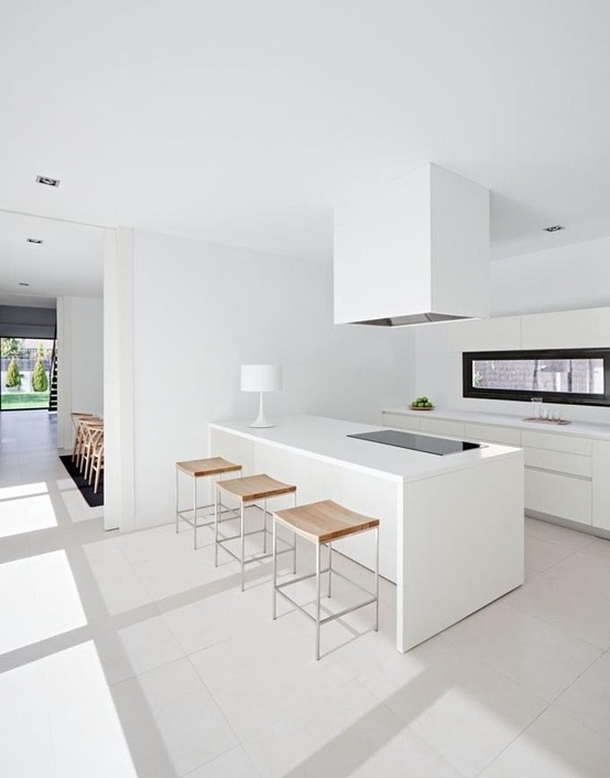White modern kitchen interior