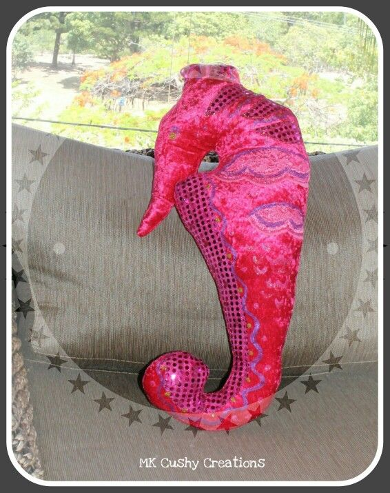 Seahorse Cushion by MK Cushy Creations #coastaldecor #beachthemeddecor #beachdecoratingidea #decoration #beachdecorandstyle #seahorse #cushion #coastal #beach#nautical #marinelife