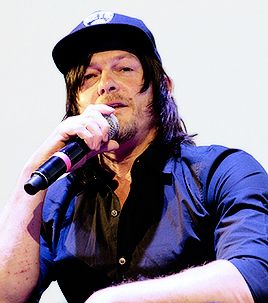 Norman Reedus during his panel at the Montclair Film Festival on May 7, 2016 in Montclair, New Jersey