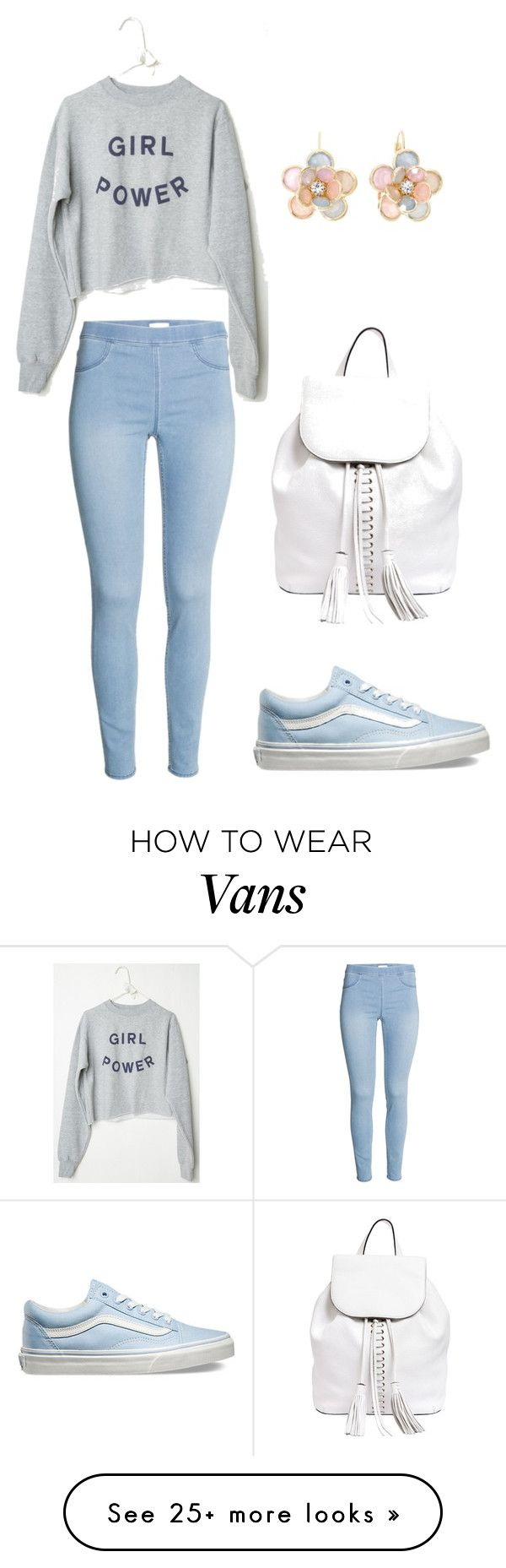 """Girl Power"" by sophia-marie-beauty on Polyvore featuring Vans, Rebecca Minkoff, Mixit, women's clothing, women, female, woman, misses and juniors"