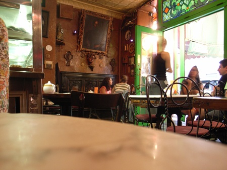 Cafe Reggio - in NYC, setting for some scenes in Raging Fire