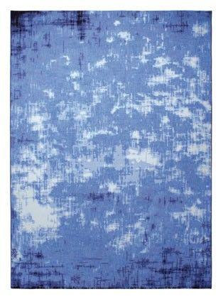 Tapis ESPRIT 'vintage frame bleu' - Détail - Saint Maclou