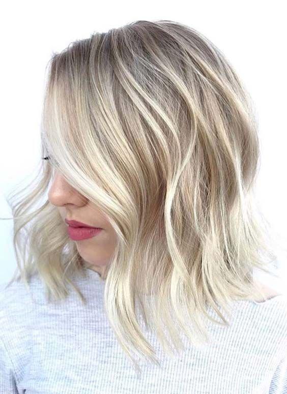 46 Super Side Parted Medium Length Blonde Hairstyles 2018 Hair