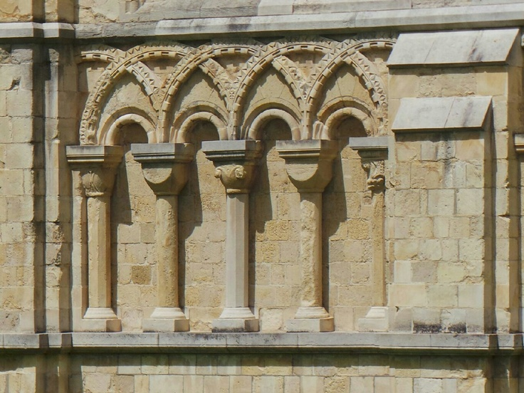 Romanesque Blind Arcading At Canterbury Cathedral From Yesterdays Canterburytweetup