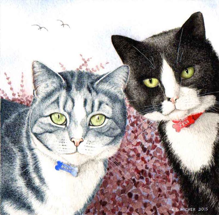 Wildlife & Pet Portraits Artist   Watercolour Pet Portrait Cumbria