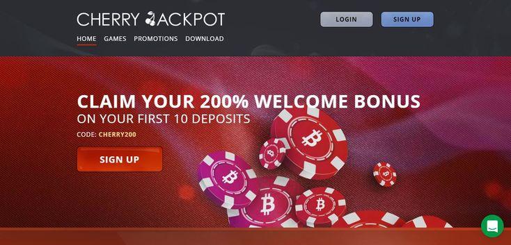 cherry jackpot casino 200% welcome bonus