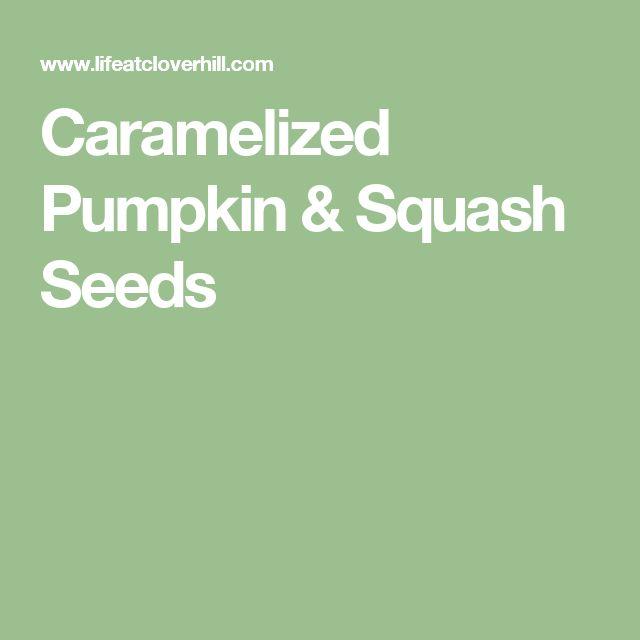 Caramelized Pumpkin & Squash Seeds
