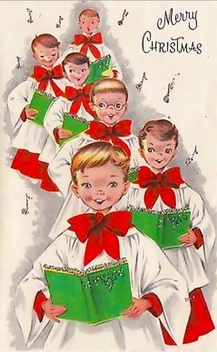 913 best vintage christmas greeting cards eight images on choirboys at christmas kristyandbryce Image collections