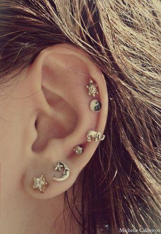 Jewels Earrings Moon Stars Elephant Yin Yang Turtle Stud Jewelry Cute And Sun Tumblr Yinyang Diamonds Studs Anyofthem Elaphant