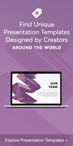 Choose from more than 4,600 presentation templates to use for PowerPoint, Keynote, infographics, pitchdecks, and digital marketing. These presentation template sets include infographic elements, typography schemes, and unique business layouts.