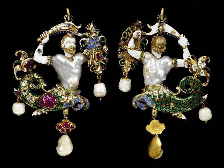 Klejnot Canninga wisiorek przedstawiający trytona, którego tors stanowi perła o nieregularnym kształcie. Głowę ma ze złota, twarz i ramionami pokryte są białą emalią a ogon w różnokolorowej emali zdobią rubiny i diamenty. Wykonany został ok. 1580 r. przez Canninga na zlecenia księcia z rodu Medyceuszy, jako dar dla cesarza Mogołów. Rozmiary: 10.5 cm x 6.5 cm x 1.6 cm