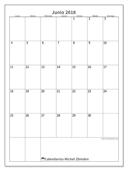Calendario junio 2018 - Antonius (es)
