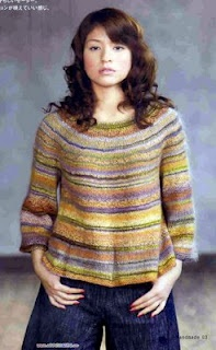 free knitting sweater pattern - would be great for handspun. Nice relaxed shape.