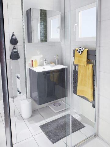 Les 19 meilleures images propos de petite salle de bain sur pinterest h t - Salle d eau salle de bain ...