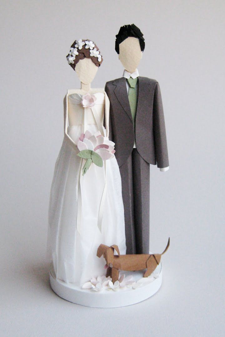Paper wedding cake toppers custom made to look like you, by Gwen at Concarta on Etsy http://www.etsy.com/listing/89672419/custom-paper-wedding-cake-topper-for