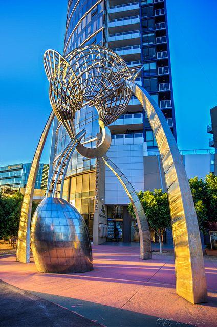 Aurora Sculpture, Docklands, Melbourne, Australia