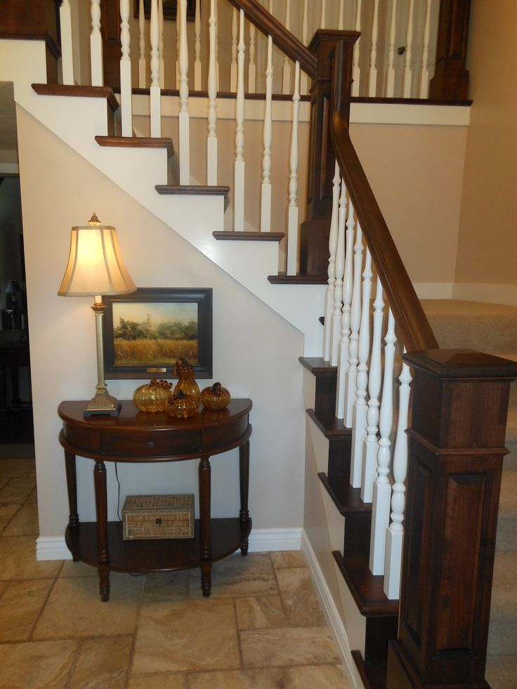 Wonderful Foyer Tables For Your Furniture Inspiration: Wonderful Small Space Foyer Ideas With Half Square Dark Wooden Furniture And Corner Furniture Ideas