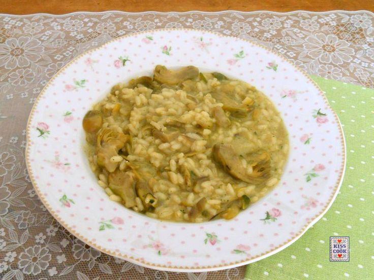 Risotto con i carciofi, un piatto molto semplice da cucinare, buono e saporito.