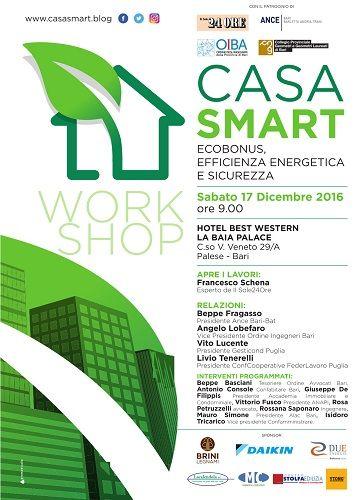 Casa Smart  Ecobonus efficienza energetica e sicurezza workshop a Bari