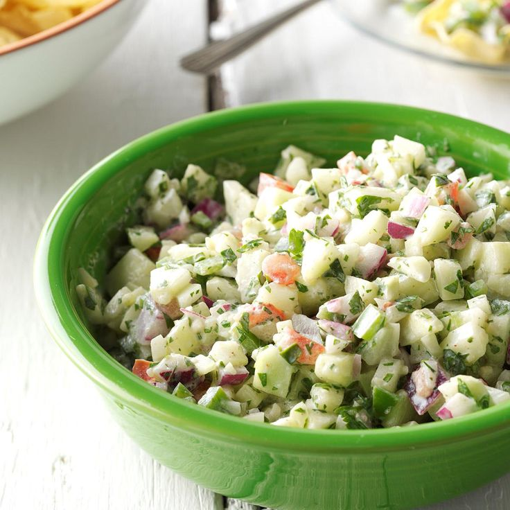 Crisp Cucumber Salsa Recipe -Here's a fantastic way to use cucumbers. You'll love the creamy and crunchy texture and super-fresh flavors. —Charlene Skjerven, Hoolpe, North Dakota