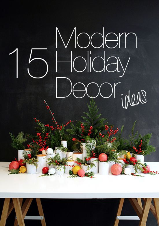 17 best ideas about modern holiday decor on pinterest white christmas modern christmas decor - Awesome the modern christmas decorations ...