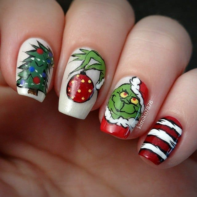Check out these amazing Christmas nails! 🎄 Have you ever gotten fancy holiday…   – Christmas nails