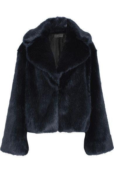 Nili Lotan - Sedella Faux Fur Jacket - Navy