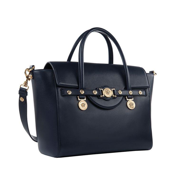 A Large Navy Blue Versace Signature Bag Versacesignaturebag