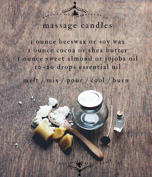 DIY Massage Candles : massage candle