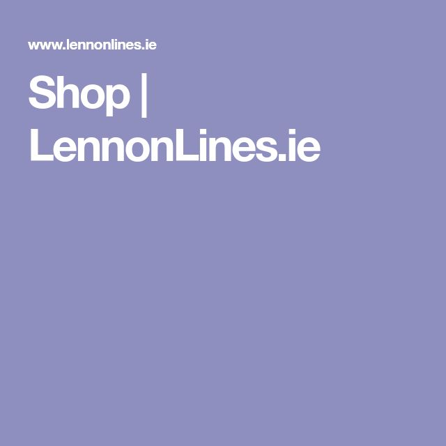 Shop | LennonLines.ie