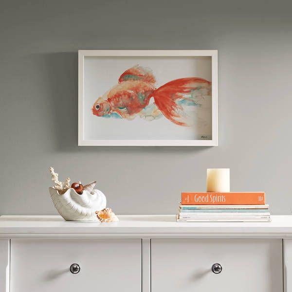 Urban Habitat Gilbert Goldfish Orange Frame Art