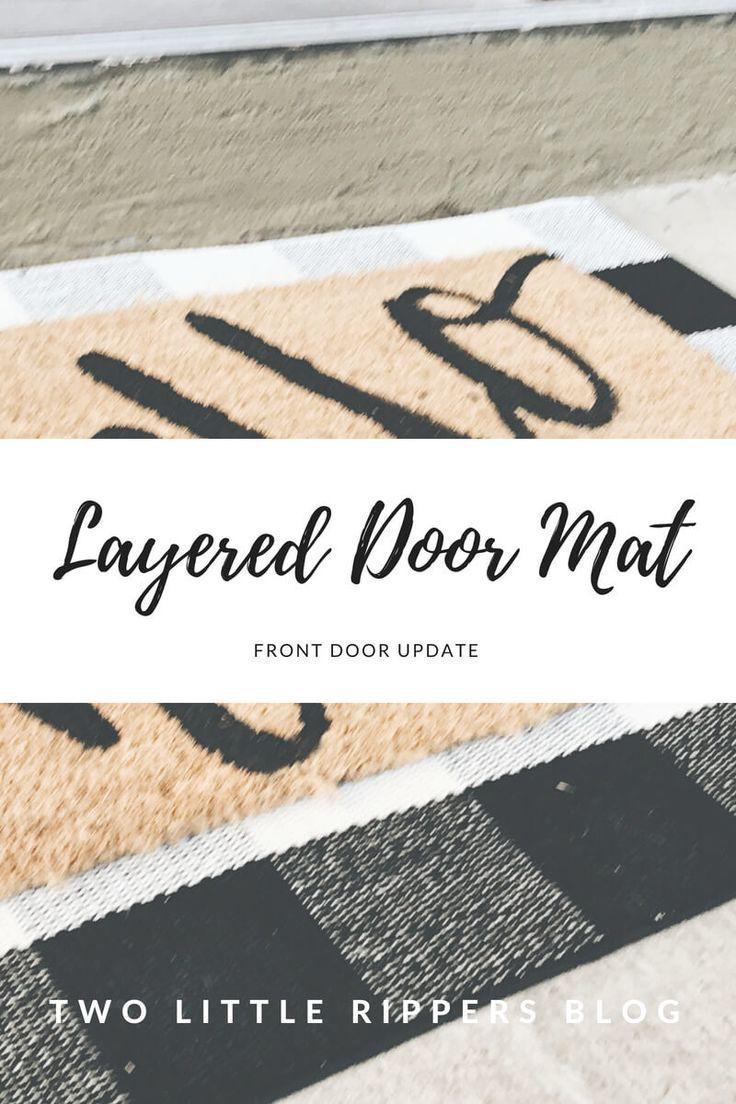 Layered Door Mat Door Mat Front Porch Mat Door Mat Diy