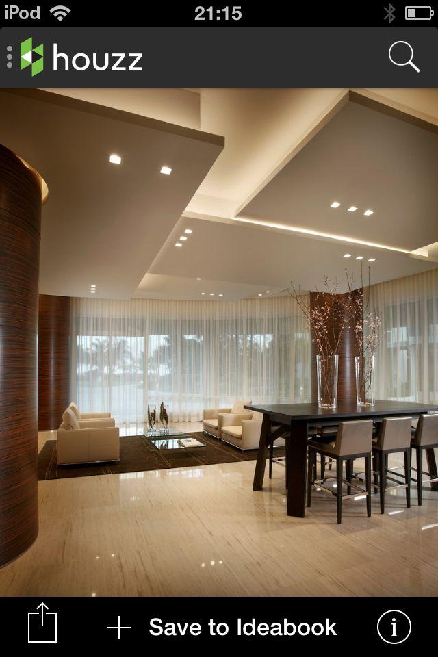 Elegant  Plafond DeckengestaltungModerne WohnzimmerAkustikWohnung