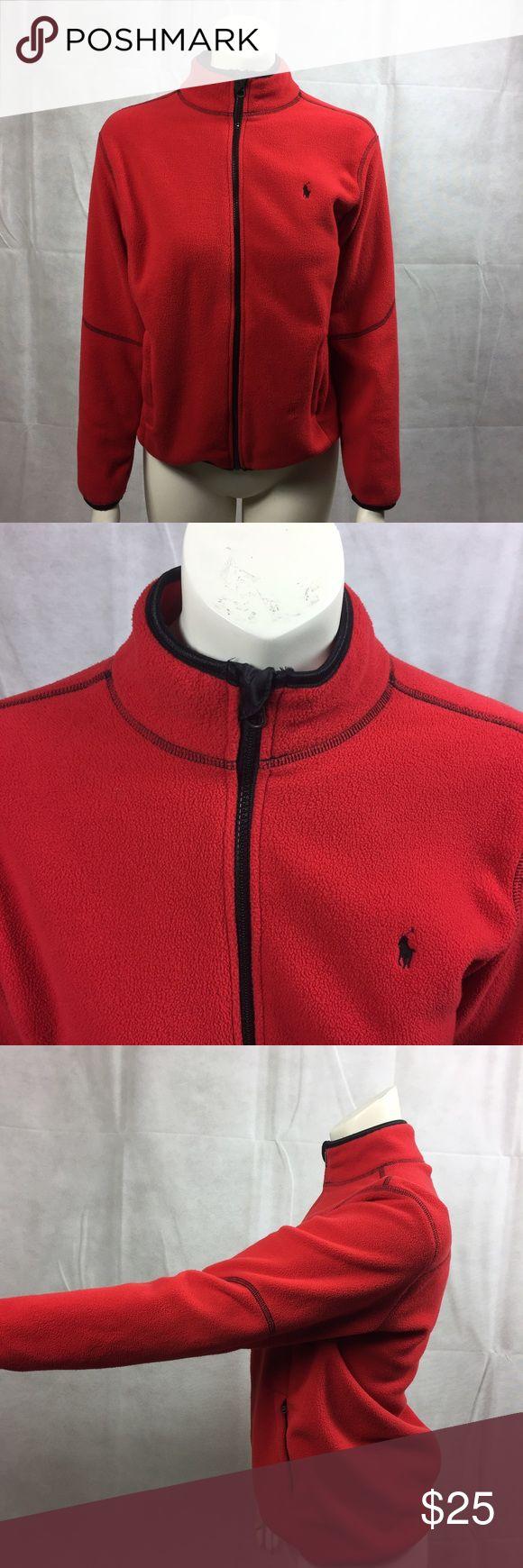 Women's polo jacket size L red black Perfect condition woman's fleece polo Ralph Lauren jacket. Size L. Colors: red & black Polo by Ralph Lauren Jackets & Coats